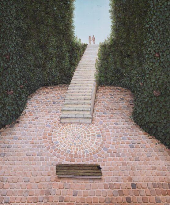Peter-Šoltó-Tajná-záhrada-olejomaľba-na-plátne-predajna-galeria