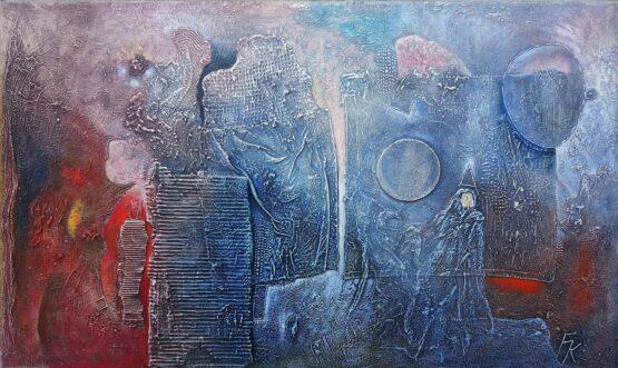 Fero-Kučo-Svetlo-temný-portrét-olej-a-špeciálna-technika-na-plátne-predajna-galeria