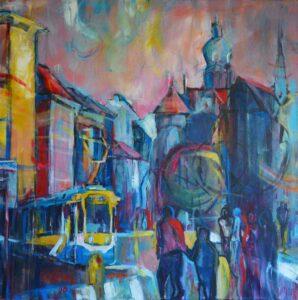 Miroslav-Kotora-Do-Centra-akryl-na-plátne-galeria-umenia