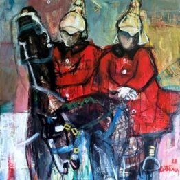 Miroslav-Kotora-Horse-Guards-akryl-na-plátne-figuralna-malba