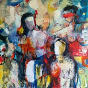 Miroslav-Kotora-Hra-na-slepú-babu-akryl-na-plátne-sucasne-umenie