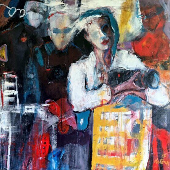 Miroslav-Kotora-Kurz-zrkadlovky-akryl-na-plátne-moderne-umenie
