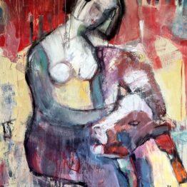 Miroslav-Kotora-Mladá-a-mláďa-akryl-na-plátne-umelecke-dielo