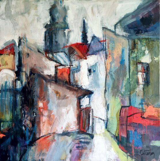 Miroslav-Kotora-Pohľad-do-dvora-akryl-na-plátne-kosice-v-umeni
