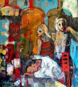 Miroslav-Kotora-Posledný-tank-trochu-inak-akryl-na-plátne-expresionizmus