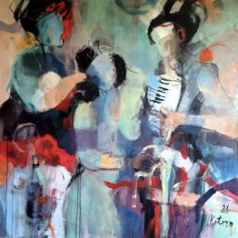 Miroslav-Kotora-Stavanie-mája-akryl-na-plátne-predajna-galeria