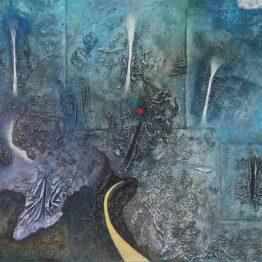 Fero-Kučo-Všetky-cesty-sú-Cesta-olej-a-špeciálna-technika-na-plátne-umelecke-dielo